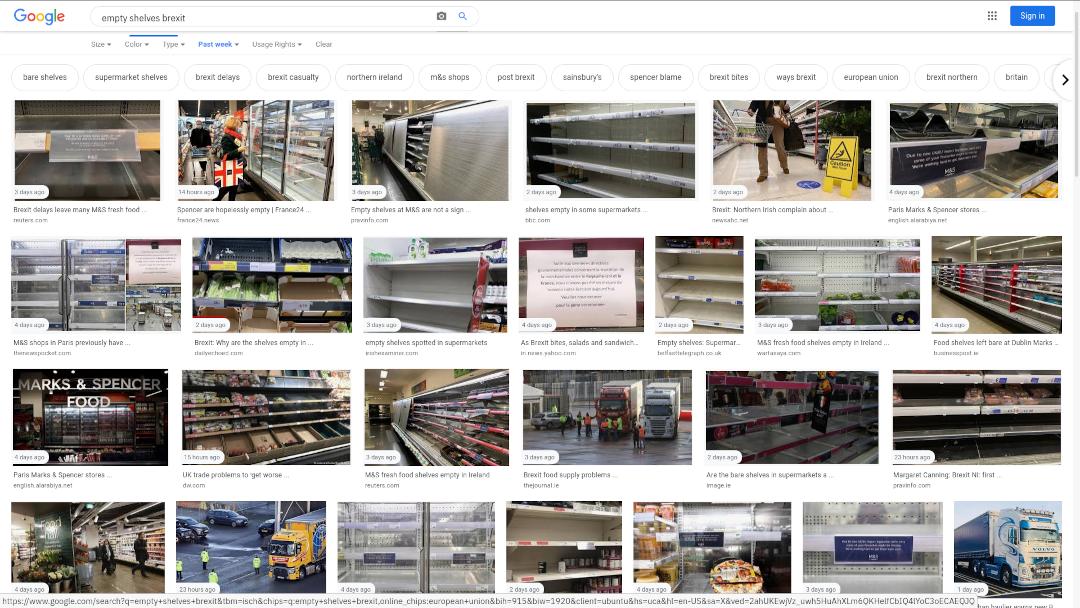 brexit empty shelves lege winkelschappen